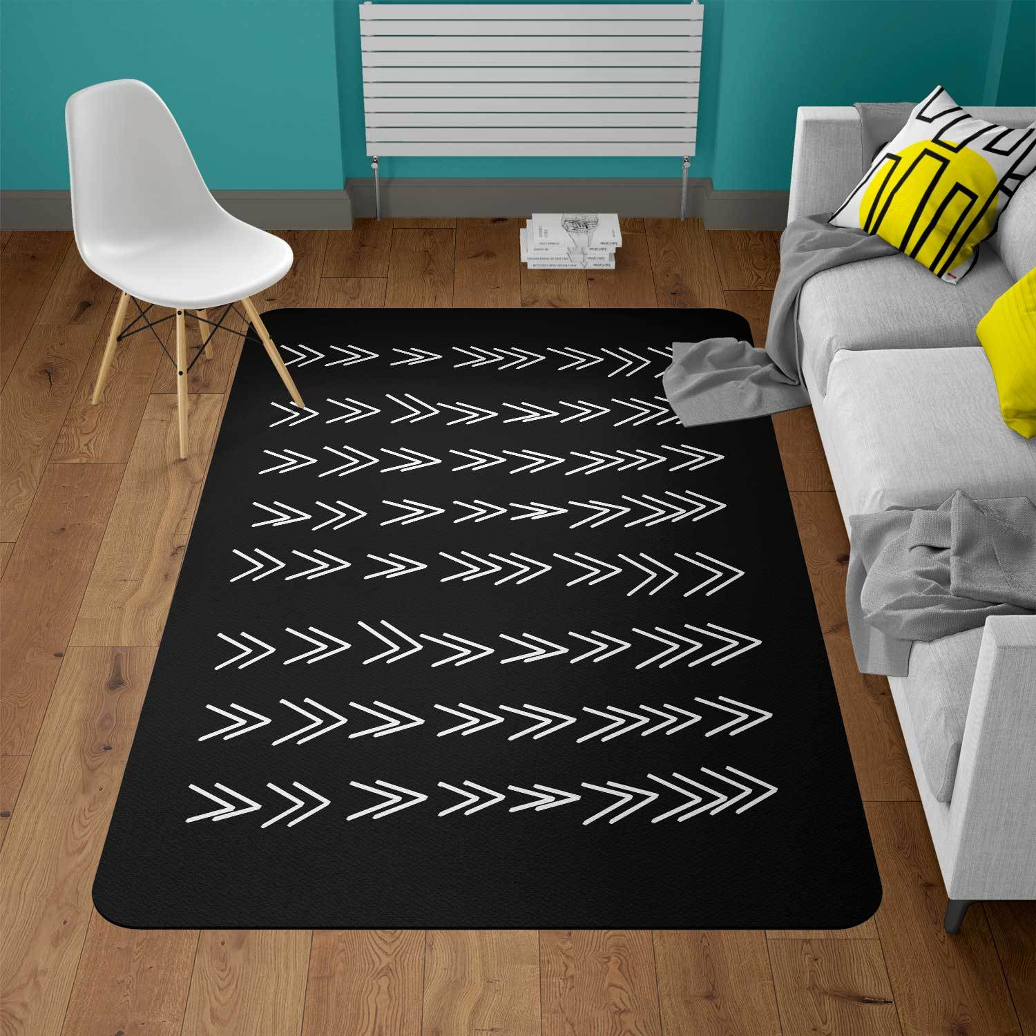 black and white rug - The Gretest