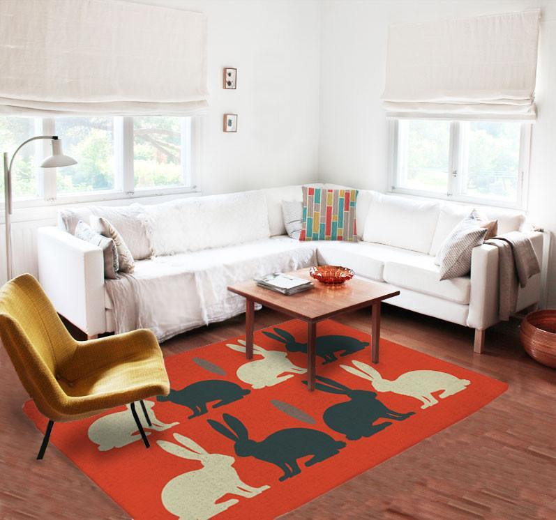 Rabbits Rugs - Kids Rug - Nursery Area Rugs -5x8 rugs - Affordable Rug-TheGretest