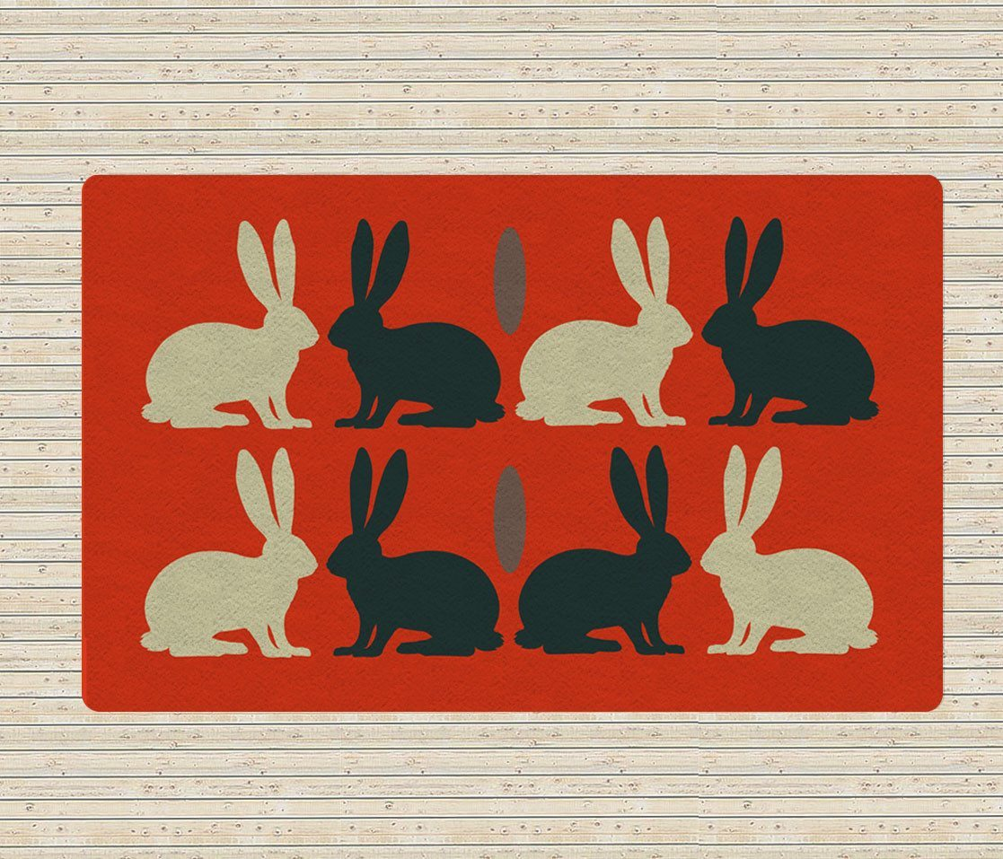 Rabbits Rugs Kids Rug Nursery Area Rugs 5x8 Rugs Affordable