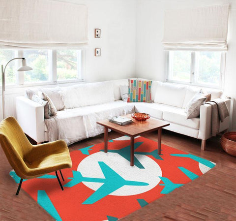 Kids rugs - Decorative Rugs - Nursery Area Rugs - Living room rugs - Airplanes Rug-Rugs-TheGretest