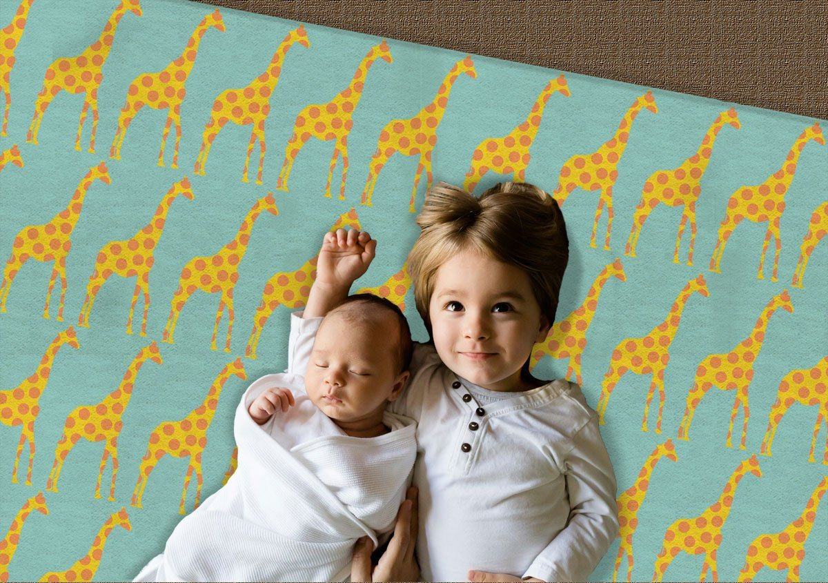 Kids rugs - Giraffes Rug- Nursery Area Rugs - Decorative Rugs-TheGretest