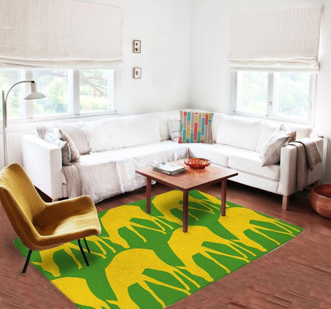 Deers Rugs - Green rugs - Yellow rugs -Decorative Rugs - Nursery Area Rugs-Rugs-TheGretest