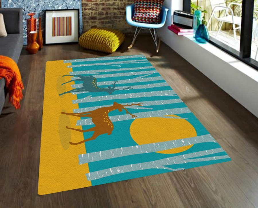 The Forest Area Rug   Kids Rugs   Nursery Area Rugs   5x8 Rugs
