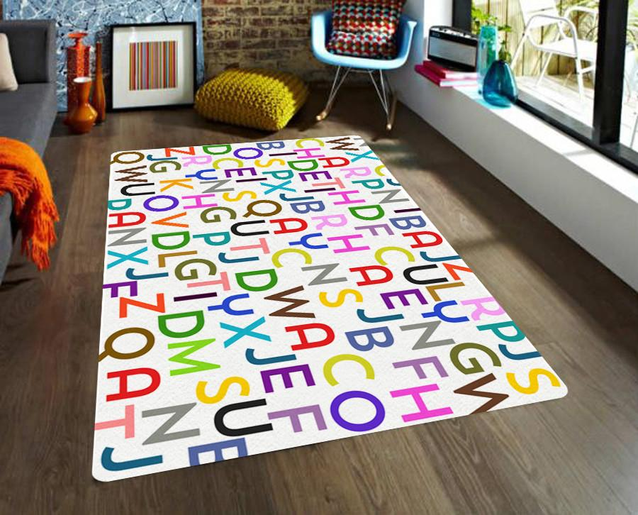 Letters Area rug - Kids Rug - Interactive rug-TheGretest