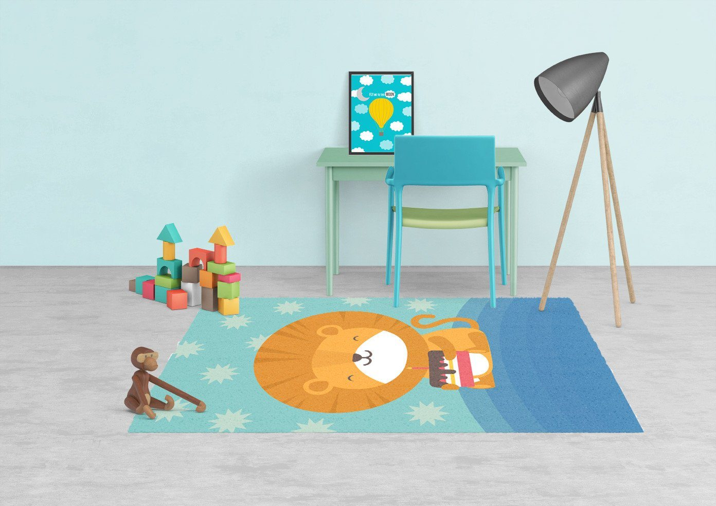 Lion Rug - Kids rugs - Affordable Rugs - Nursery Area Rugs-TheGretest