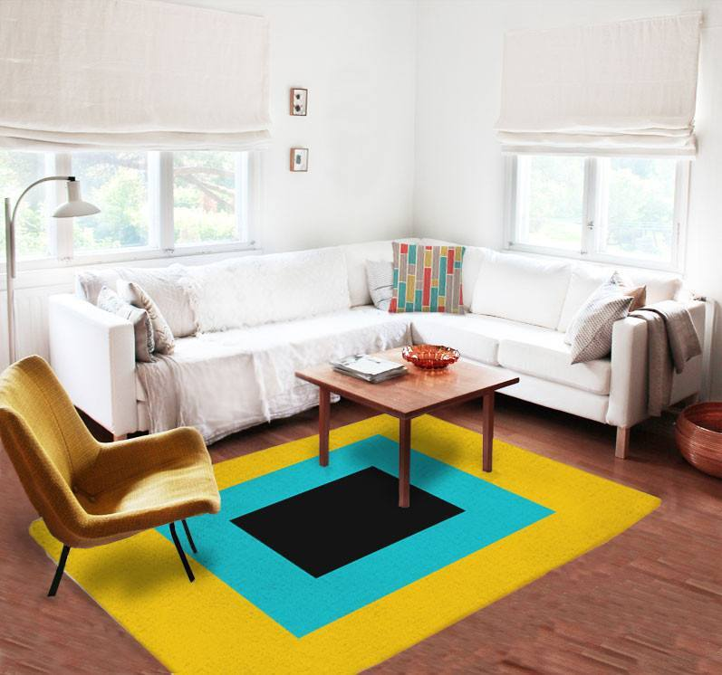 Modern Rugs - Yellow Rugs - Affordable area rugs - Dorm rugs - 5x8 rug-TheGretest