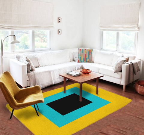 Modern Rugs - Yellow Rugs - Affordable area rugs - Dorm rugs - 5x8 rug - TheGretest - 1