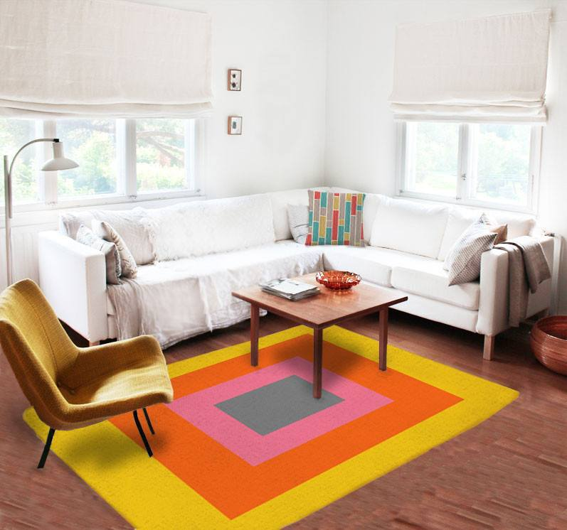 Colorful Rugs - Affordable area rugs - Modern Area Rug - Geometric ...