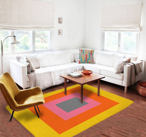 Colorful Rugs - Affordable area rugs - Modern Area Rug - Geometric Rug - TheGretest - 1