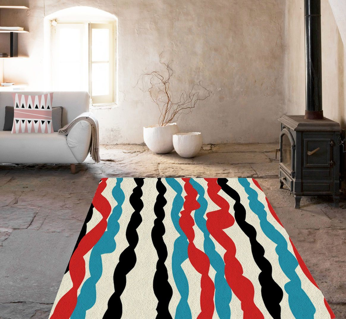 Lines Rugs - Affordable area rugs - Dorm rugs - 5x8 rug - Designer rug-TheGretest