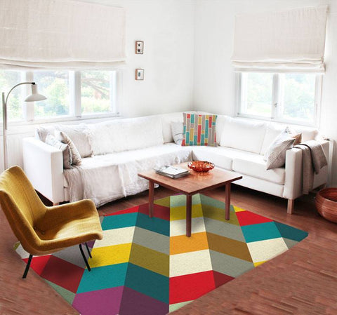 Geometric colorful Rugs - Modern Area Rug - Contemporary Rug - Affordable rugs - TheGretest - 1