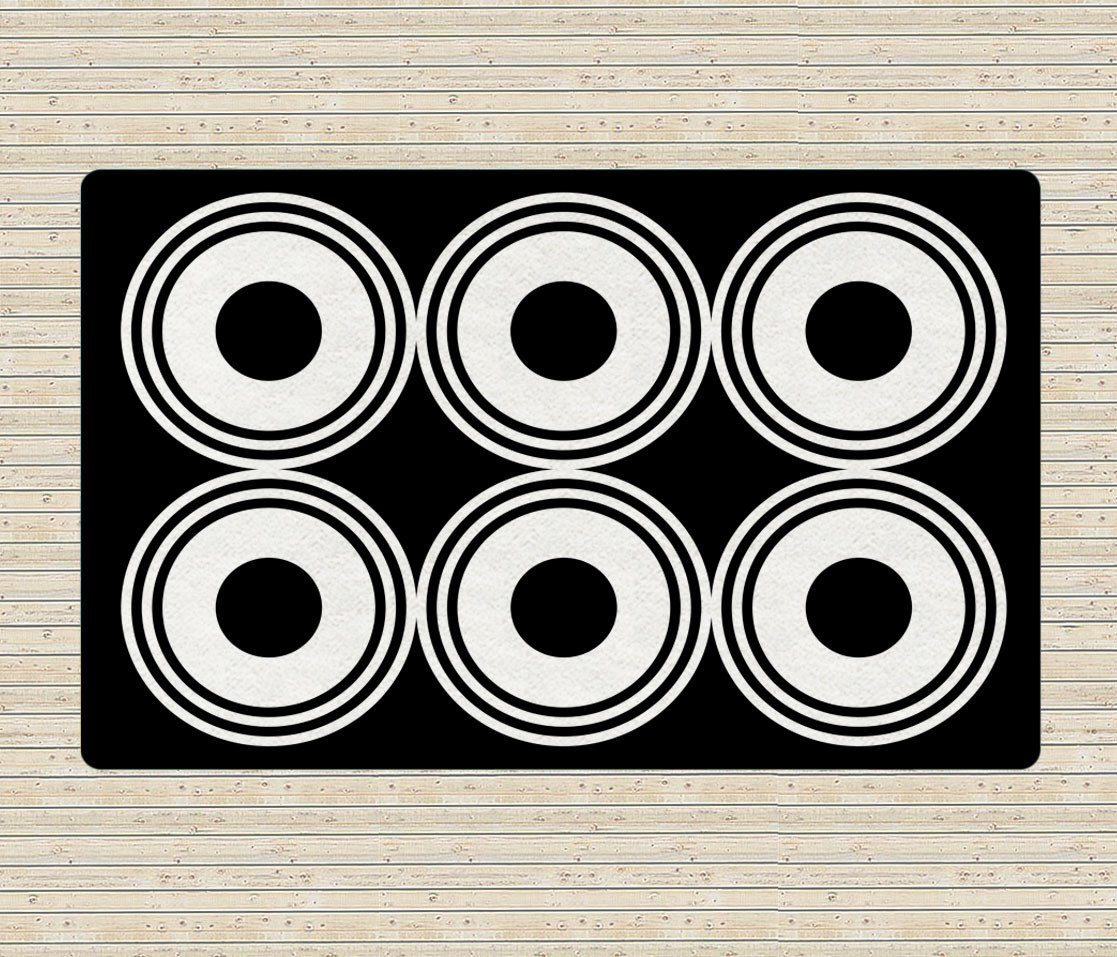White Circles Rugs - Accent Rugs - Dorm rugs - 5x8 rug -Geometric Rugs-TheGretest