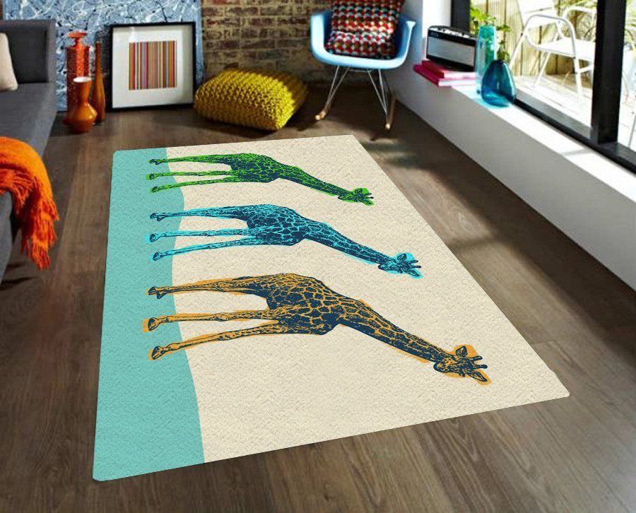 Giraffes Rugs - Affordable rugs - Modern Area Rug - Contemporary rug-TheGretest