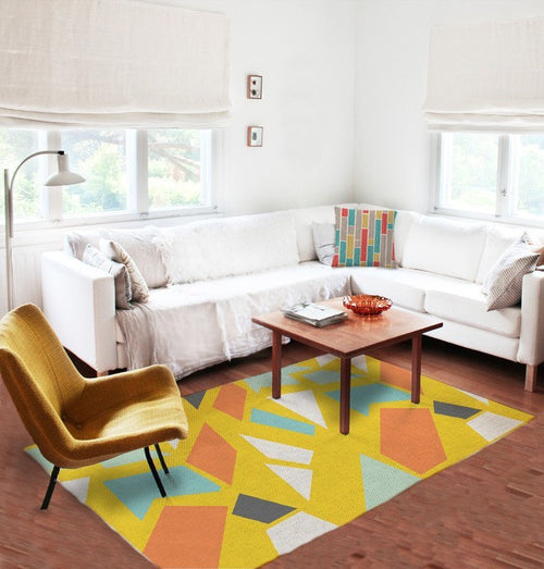 Geometric Yellows Rug
