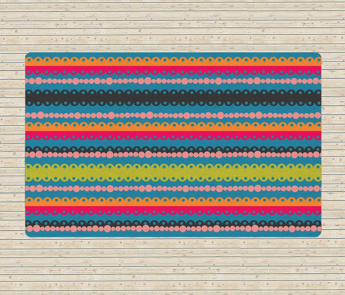 Colorful Rugs - Modern Area Rug - Dorm rugs - 5x8 rug-TheGretest