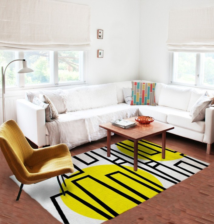 Pop Rug - Modern Area Rug - Designer rugs - Affordable rugs - White Rug-TheGretest