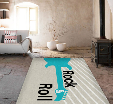 Rock and Roll Rug - Modern Area Rug - Guitar rugs - Affordable area rugs - TheGretest - 1
