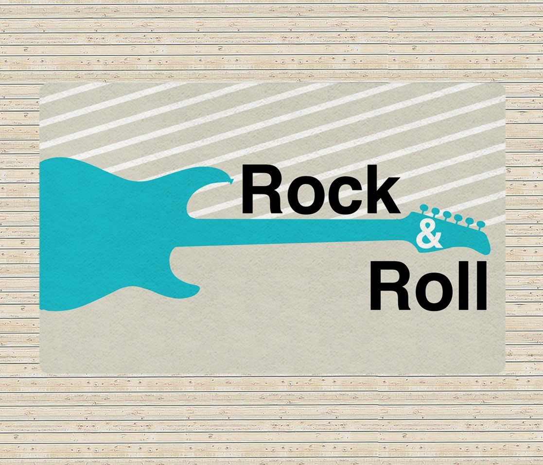Rock and Roll Rug - Modern Area Rug - Guitar rugs - Affordable area rugs-TheGretest
