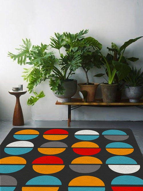 Rug with colorful shapes