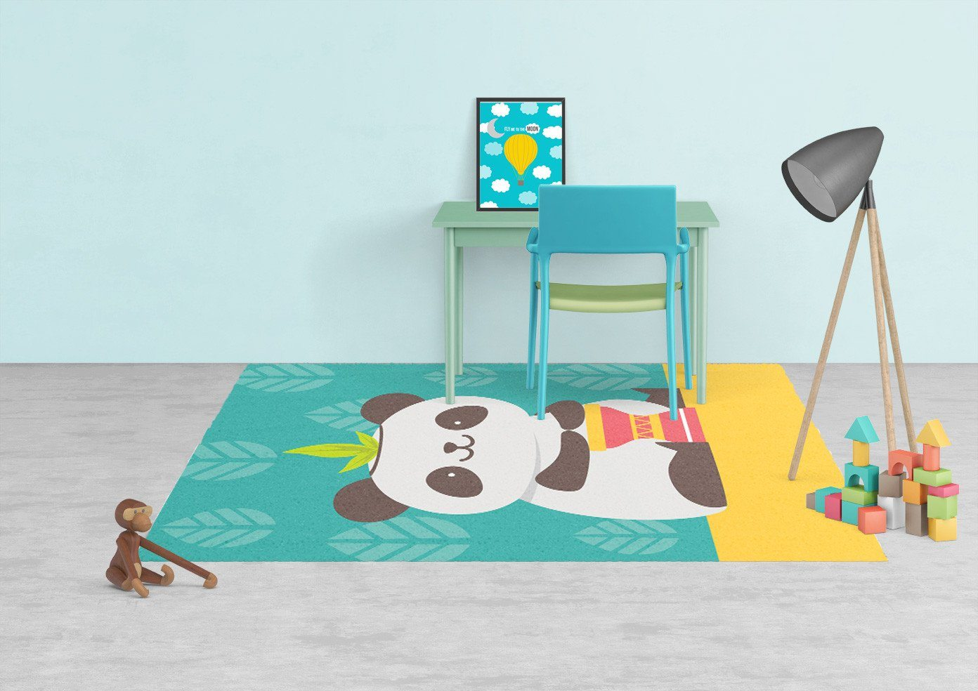 Panda Rug - Kids rugs - Affordable Rugs - Nursery Area Rugs-TheGretest