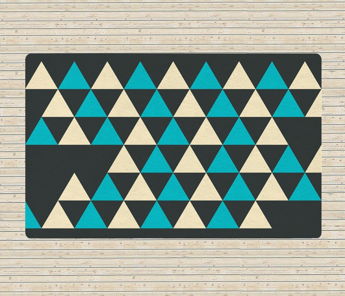 Triangles rug - Geometric rug - 5x8 Rug - Affordable area rugs-TheGretest