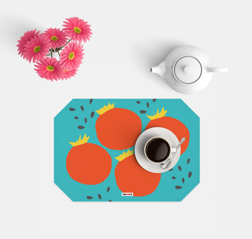 Scandinavian set 4 Placemats - Tomatoes placemats