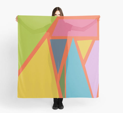 Large Scarf - Geometric Colors Scarf - Modern Scarves