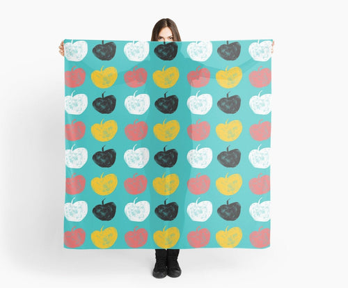 Modern Large Scarves - Apples Scarf - Original Scarves