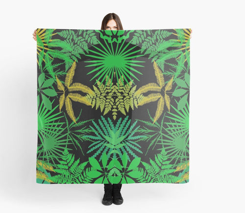 Modern Scarf - Tropical Scarf - Large Scarves
