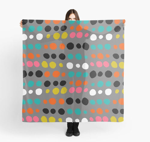 Modern Scarves - Multicolor Dots Scarf  - Scarves