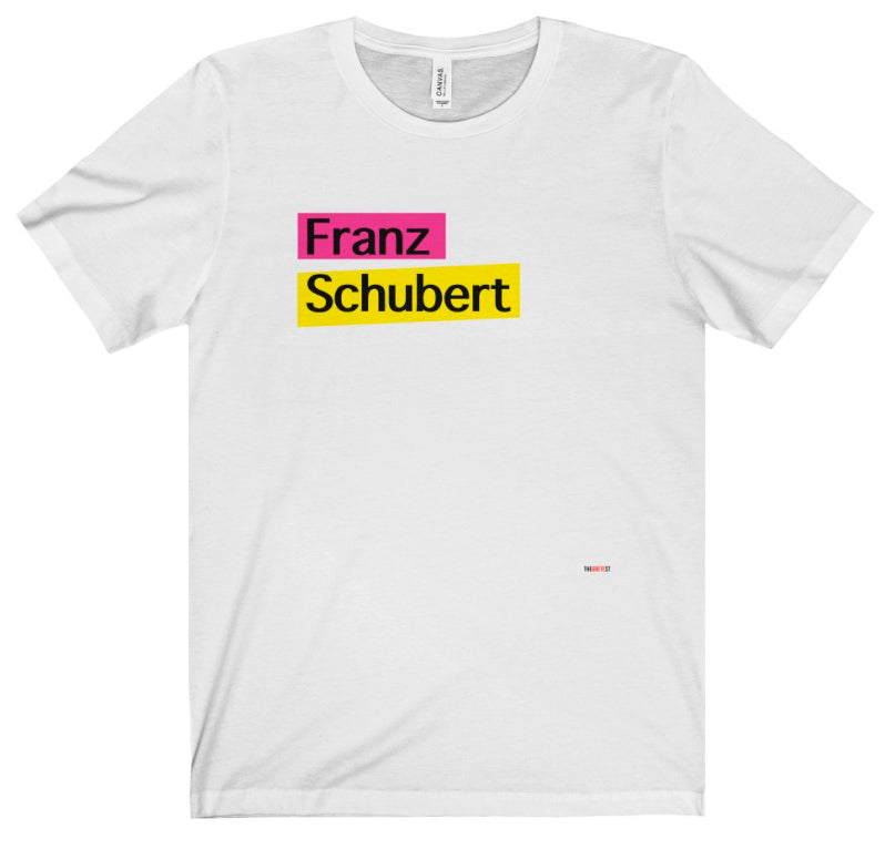 Schubert T Shirt - gifts for musicians