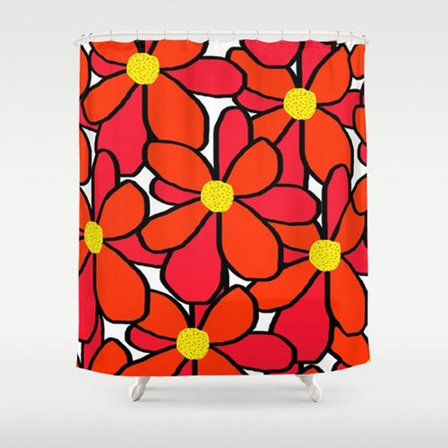 Big Flowers Shower Curtain