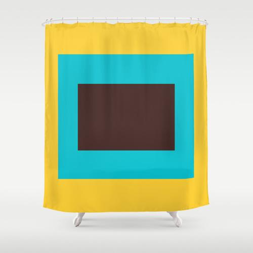 Block Colors Shower Curtain