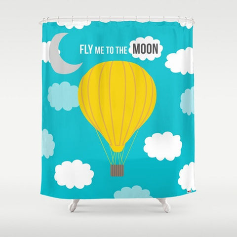 Fly me to the Moon Shower Curtain - TheGretest