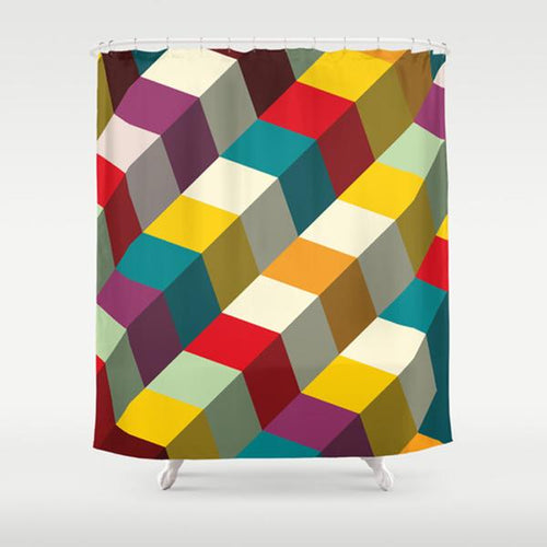 Tetris Shower Curtain