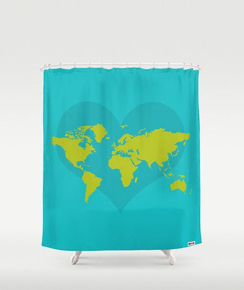 Worldmap Shower Curtain