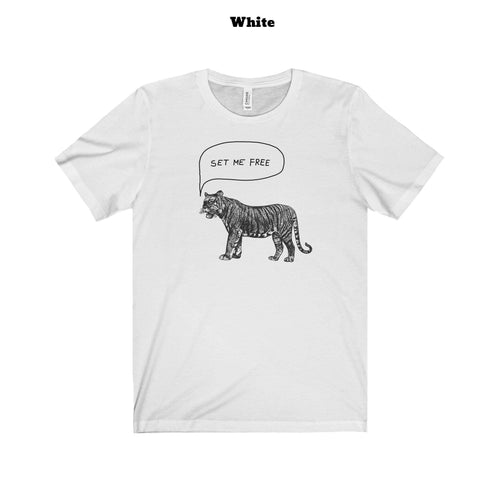 Free the tiger T-shirt (+14 Colors)