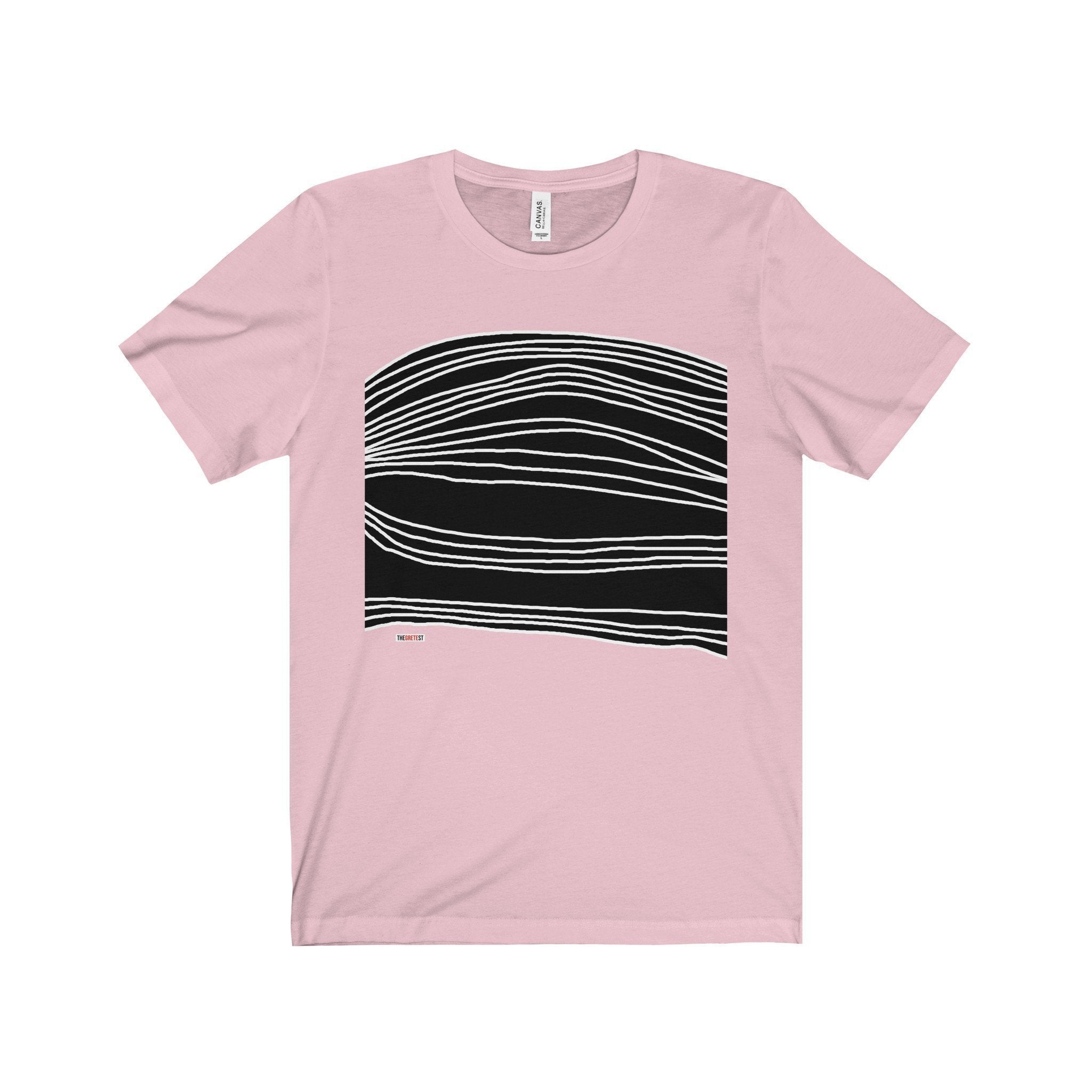 White Stripes on black T shirt (+14 Colors)-TheGretest