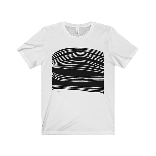 White Stripes on black T shirt (+14 Colors)