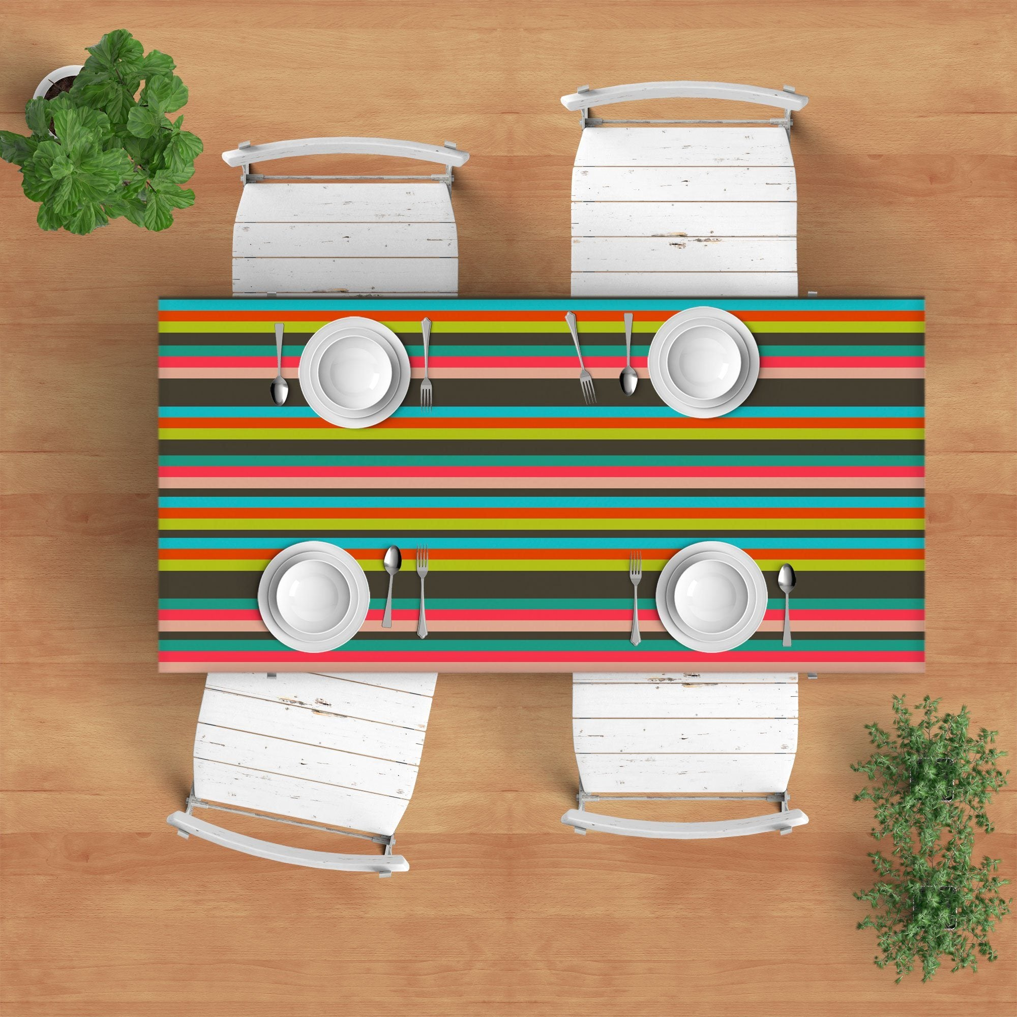 Colorful Stripes Tablecloth-TheGretest
