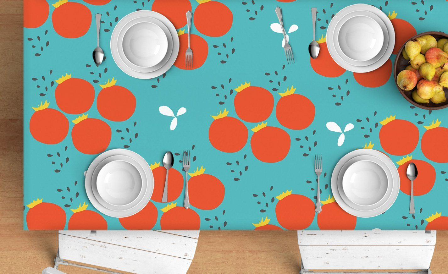 Tomatoes Tablecloth - Scandinavian tablecloth-TheGretest