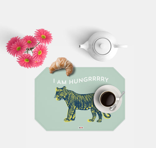 Tiger Set of 4 Placemats - Kids placemats