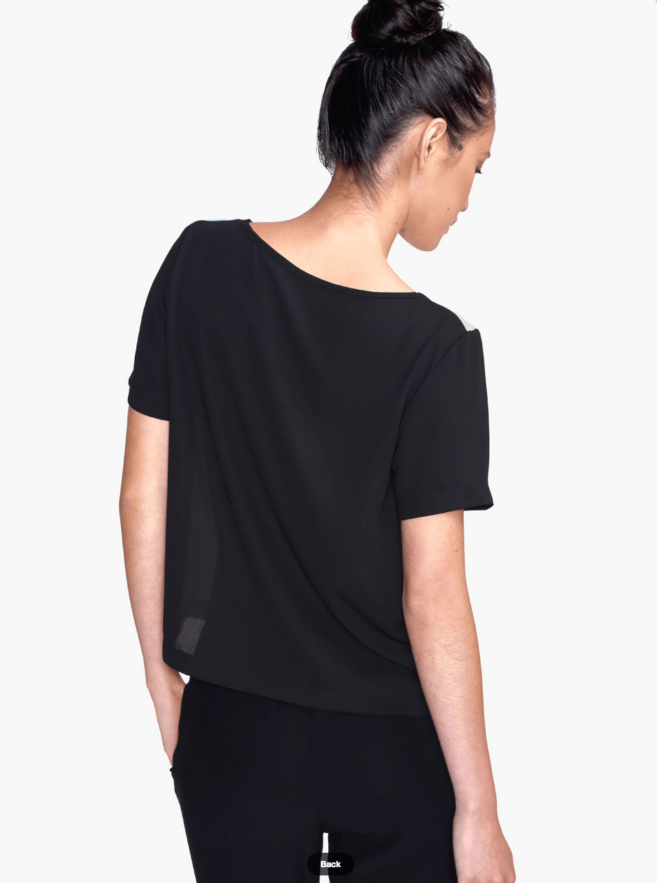 Black and white top - Chiffon Top - Women Blouse - Modern Clothing-TheGretest