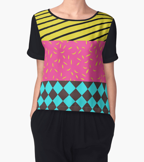 Mixed patterns Chiffon Top