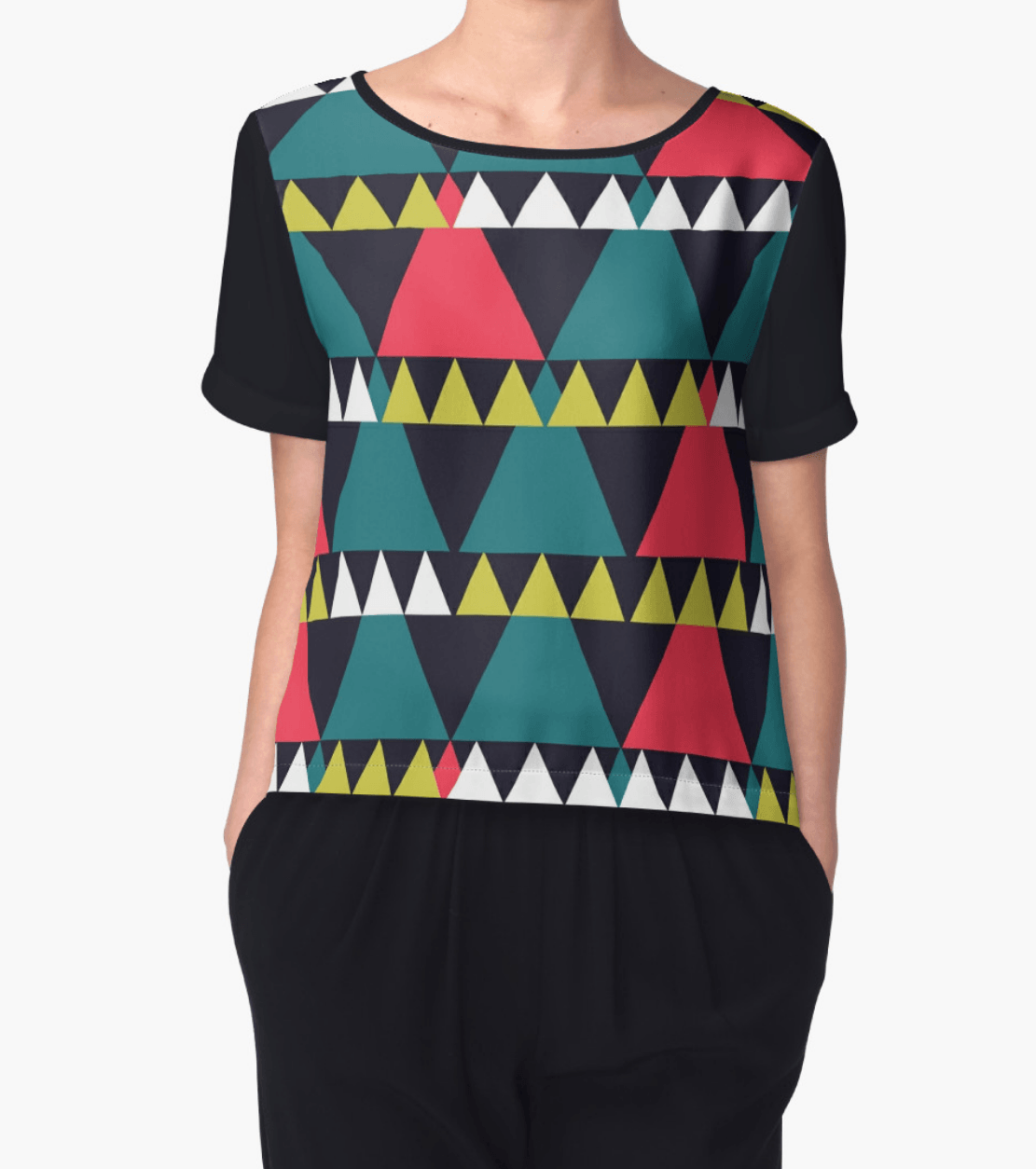 Triangles top - Chiffon Top - Women Blouse - Modern Clothing-TheGretest