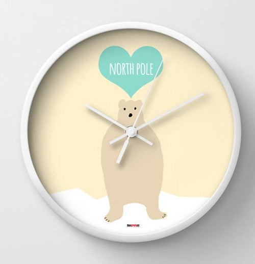 North Pole Wall Clock