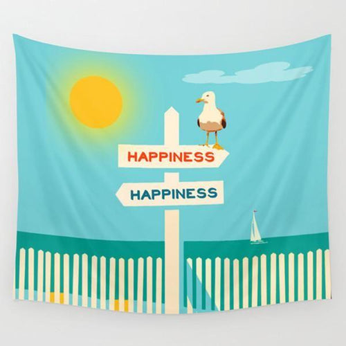 Beach theme wall tapestry