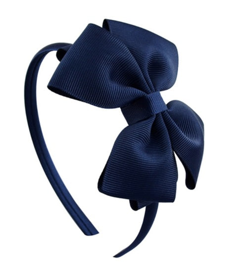 WING BOW DIADEM - Navy