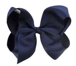 BIG GIRLS BOW HAIR CLIP - Navy