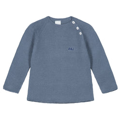AZAFATA BLUE KNITTED SWEATER